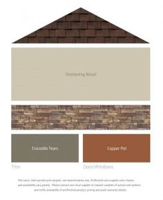 exterior house color schemes with red brick House Exterior Color Schemes, Paint Color Schemes, Exterior Colors, Exterior Paint Colors For House With Stone, Exterior Paint Color Combinations, Brown Roof Houses, Brown Roofs, Best Exterior Paint, House Paint Exterior