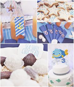 Nautical themed birthday party FULL OF CUTE IDEAS via Kara's Party Ideas | KarasPartyIdeas.com Full of decorating ideas, cakes, cupcakes, de...