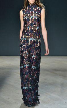 Badgielol Lace Dress by Mary Katrantzou for Preorder on Moda Operandi