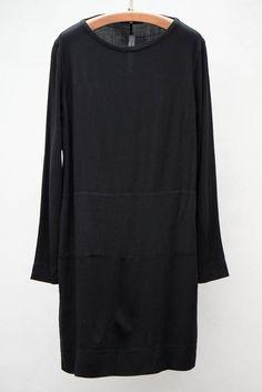 RAQUEL ALLEGRA  BLACK SHIFT DRESS