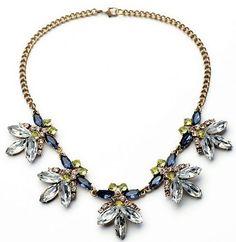 Kristoff Crystal Flower Statement Necklace
