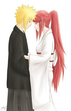 Minato and Kushina by piinl on DeviantArt