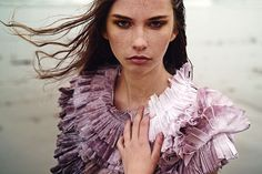 i like how watercolor-y that ruffle is    Kate TowersFashion - Creature Comforts