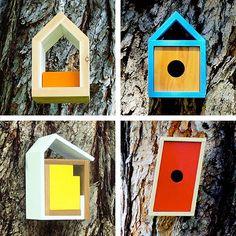 Mid Century Bird houses! #designerpad #dwellinggawker