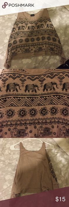 Elephant pattern crop top {last chance} (Not urban, just for exposure) soft crop top (closet closing Thursday, buy now) Urban Outfitters Tops Crop Tops