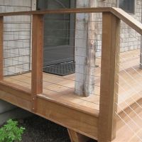 Wood Deck That Steps Down To Paver Patio Curved Deck