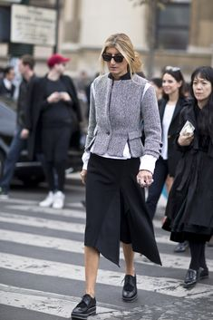 drama artsy postprotest - The Best Street Style from Paris Fashion Week Spring 2016 | StyleCaster