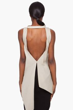 Love the back of this Rick Owens Silk Tank Top