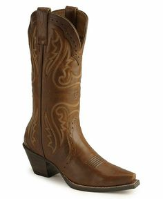 Ariat Heritage Western Cowgirl Boots--Snip toe, caramel color