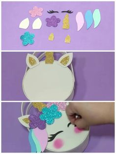 Kids Crafts, Diy Crafts For Girls, Foam Crafts, Diy And Crafts, Paper Crafts, 5th Birthday Party Ideas, Unicorn Birthday Parties, Birthday Party Decorations, Cupcake Gift