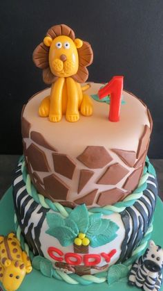 Safari Cake Safari Cakes, Cakes For Men, Birthday Cake, Boys, Desserts, Crafts, Baby Boys, Tailgate Desserts, Birthday Cakes