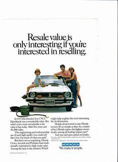 1977 Honda Civic CVCC ad