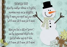 Recipe card for Snowman Soup