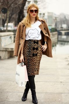 animal print, romanian treasure Burberry, Skirt Boots, Bucharest, London, World Of Fashion, Street Fashion, Sequin Skirt, Women Wear, Street Style