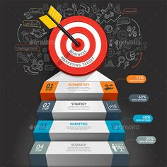 target with arrow and doodles icons. can be used for workflow layout banner diagram web design infographic template. Project Timeline Template, Diagram Chart, Infographic Templates, Infographics Design, Business Infographics, Doodle Icon, Adobe Illustrator Tutorials, Le Web, Creating A Brand