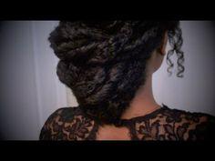 "Easy Textured Elegant Formal Updo ""Natural Hair"""