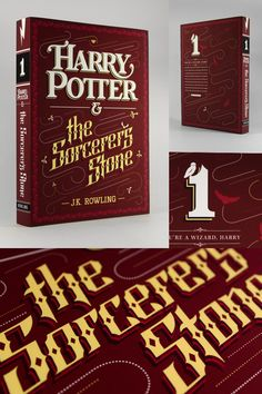 Kazyole on Reddit is making typographic covers for the Harry Potter books and they look great.