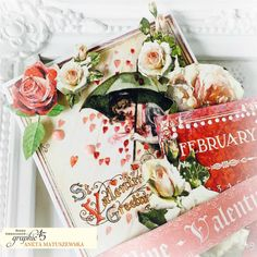 4 Steps to Vintage Valentines Cards by Aneta Matuszewska featuring product by Graphic Vintage Valentine Cards, Graphic 45, Brand Ambassador, Love Valentines, Creative Cards, Iceland, Greeting Cards, Paper Crafts, Gift Wrapping