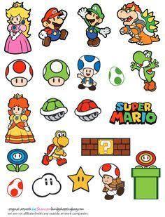 Mario Printable Coloring Pages, Invitations & Super Mario Bros, Super Mario Birthday, Mario Birthday Party, Super Mario Party, Super Mario World, Super Mario Brothers, Mario Kart, Mario E Luigi, Tatoo Geek