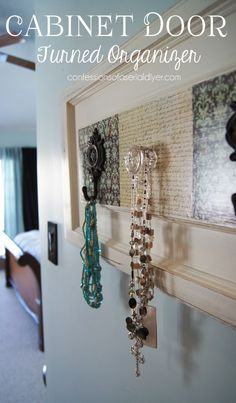 Cabinet Door to Organizer | Confessions of a Serial Do-it-Yourselfer