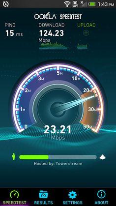 Test your internet speed www.Speedtest.net