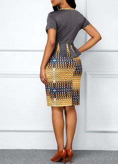 Dresses For Women African Wear Dresses, Latest African Fashion Dresses, African Print Fashion, African Attire, Tribal Print Dress, Tribal Prints, Casual Formal Dresses, African Traditional Dresses, Body
