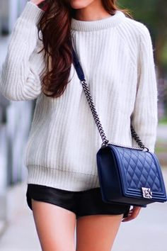 chanel boy bag + sweater http://tsangtastic.com/2014/02/let-loose.html