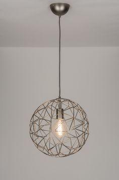 Geschikt voor LED . 35 cm ook in 45 en 76 cm .. Een grote dosis transparantie gevangen in een subtiel vormgegeven hanglamp! Deze hanglamp valt onder de categorie draadbollen / draadlampen . Voor hoge ruimte , vide , hal , woonkamer , bedrijf . Home interior lights / ONLINE SHOP : click on this LINK ( www.rietveldlicht.nl ) Verzendkosten gratis .
