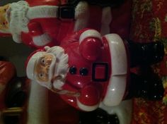 Vintage lighted Santa