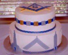 masonic wedding cake