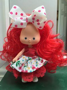 "Strawberry Shortcake Vintage Berrykin Custom Reroot "" Bubblegum "" OOAK"