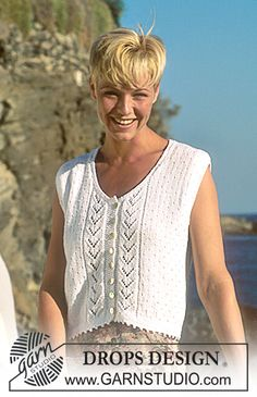DROPS 41-6 - DROPS Vest in Safran with lace pattern - Free pattern by DROPS Design