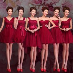 Cheap gown backless, Buy Quality gown city dresses directly from China dress korean Suppliers: Wine Red Bridesmaid Dress Short Lace Strapless Prom Burgundy Lavender Champagne Bridemaids Party Gown Bridesmaid Dresses 2015