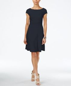 Armani Exchange Boat-Neck A-Line Dress, a Macy's Exclusive Style