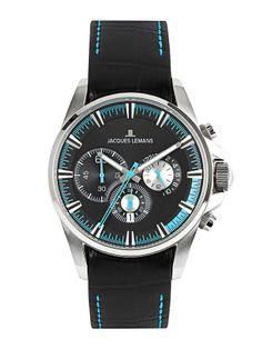 7d6964a8b64 Buy Jacques Lemans Black Dial Chronograph Men s Watch 1-1655C online
