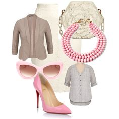 Pretty in pink by megan-r-gery on Polyvore featuring polyvore, fashion, style, maurices, H&M, Christian Louboutin, Nancy Gonzalez, Amrita Singh and Wildfox
