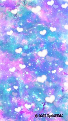 Cute Bokeh Hearts Galaxy Wallpaper