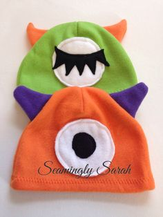 Fleece Monster Hats for Kids - READY TO SHIP Pirate Hats For Kids, Kids Hats, Monster Costumes, Horse Costumes, Monster Hat, Felt Fox, Bird Costume, Cat Hat, Super Hero Costumes