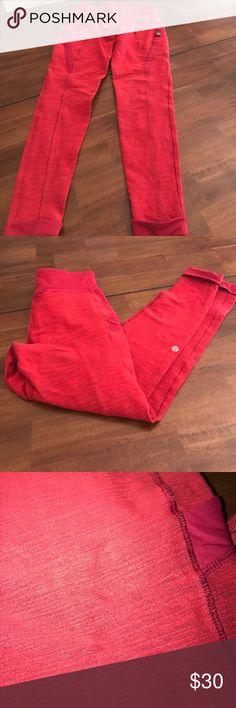 Red lululemon cropped pants Size 4 lululemon athletica Pants
