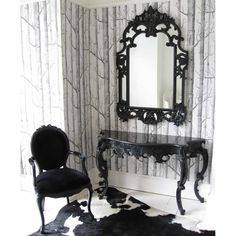 Sassy Boo Large Black Console Table | Console Table - Black French Bedroom Furniture