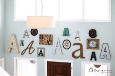 Decorar pared con letras
