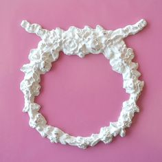 Shabby WREATH  Furniture APPLIQUE  Cottage French Chic