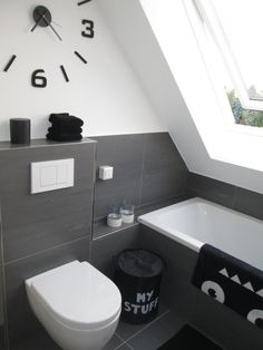 black bathroom You are in the right place about DIY Rug rectangle Here we offer you the most beautiful pictures about the DIY Rug area you are looking for. When you examine the black bathroom part of Attic Bathroom, Attic Rooms, Bathroom Rugs, Bathroom Bath, Bathroom Ideas, Bathroom Flooring, Bathroom Accessories, Home Accessories, Boy Bath