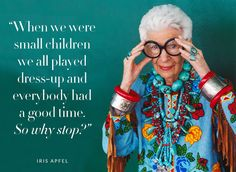 Fashion quotes art iris apfel ideas Source by clothing quotes Iris Apfel Quotes, 50 Y Fabuloso, Fashion Documentaries, Ted, Love Fashion, Womens Fashion, Funny Fashion, Fashion Ideas, Fashion Outfits