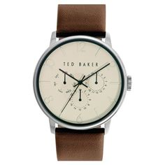 10 Trending Gifts From Nordstrom For The Guy With Style//#5 Ted Baker London Multifunction Leather Strap Watch, 42mm #rankandstyle
