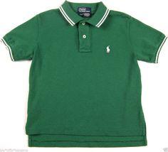 Polo Ralph Lauren Shirt Boys Size 4T Collared Short Sleeve Green Cotton#RalphLauren #DressyEveryday