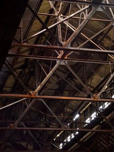 Ceiling Supports - Photo of the Abandoned Glenwood Power Plant Steel Trusses, Roof Trusses, Truss Structure, Steel Structure, New Architecture, Industrial Architecture, Roof Truss Design, Roof Ceiling, Abandoned Asylums