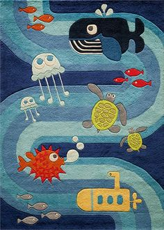 Rosenberry Rooms has everything imaginable for your child's room! Share the news and get $20 Off your purchase! (*Minimum purchase required.) Ocean Life Rug #rosenberryrooms