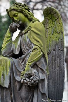 Angel at the Olshanskoe Cemetery (chesh. Olšanské hřbitovy), Czech Republic, Prague.