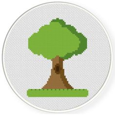 FREE for Oct 24th 2016 Only -  Tree On A Grass Cross Stitch Pattern